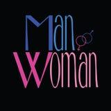 男人和妇女标志例证 库存照片