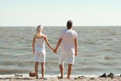 男人和妇女海的 免版税库存照片