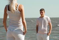 男人和妇女海的 免版税图库摄影