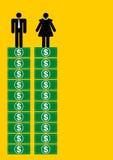 男人和妇女的等于薪金 免版税库存照片
