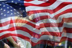 男人和妇女的退伍军人 免版税图库摄影