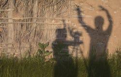 男人和妇女的阴影的浪漫构成 库存图片