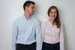 男人和妇女纵向 免版税库存图片