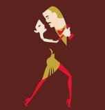 男人和妇女跳舞 库存照片