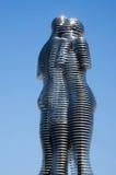 男人和妇女,巴统,乔治亚现代金属雕塑  免版税库存图片