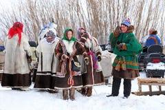 男人和妇女Nenets 图库摄影