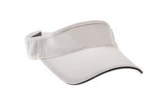 男人或妇女的白色高尔夫球遮阳 免版税库存图片