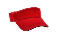 男人或妇女的红色高尔夫球遮阳 库存图片