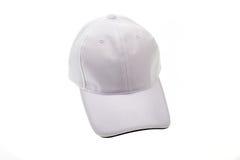男人或妇女的高尔夫球帽白色 免版税库存图片