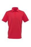 男人或妇女的高尔夫球红色T恤杉 库存图片