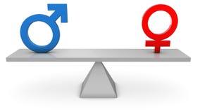 男女平等 库存照片