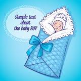 男婴例证休眠向量 免版税库存照片