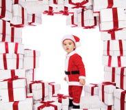 男婴克劳斯・圣诞老人 库存图片