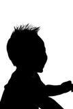男婴剪影 免版税库存照片