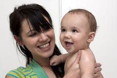 男婴她的藏品母亲 图库摄影