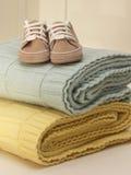 男婴布料 免版税库存图片