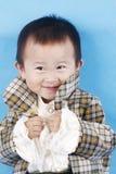 男婴微笑 免版税图库摄影