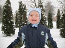 男婴微笑 免版税库存照片
