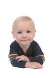 男婴愉快微笑 免版税库存照片