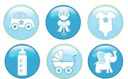 男婴按钮 免版税库存图片