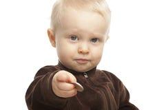 男婴查出 免版税库存图片
