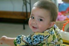 男婴照相机儿童查找 免版税库存图片