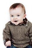 男婴特写镜头一点被采取的白色 库存照片