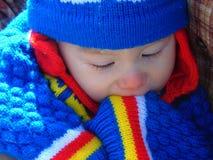 男婴画象生动的大胆的颜色的 免版税库存照片
