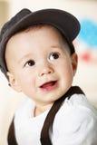 男婴盖帽纵向 免版税图库摄影