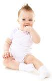 男婴笑 免版税库存图片