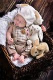 男婴第一复活节  库存图片