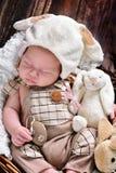 男婴第一复活节  免版税库存照片