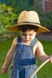 男婴花匠一点 免版税库存图片