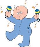 男婴跳舞 库存图片