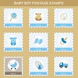 男婴邮票 免版税库存照片