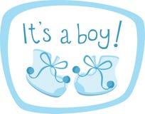 男婴鞋子 库存图片