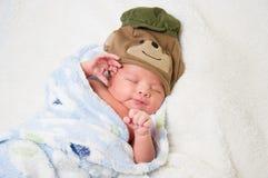 男婴,新出生 免版税库存图片