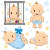 男婴8部分 向量例证