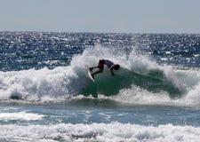 男子气概澳大利亚海滩glenn的大厅开张 免版税图库摄影