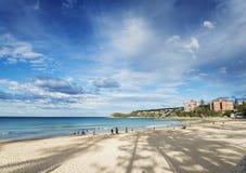 男子气概的海滩在北部悉尼澳大利亚 图库摄影