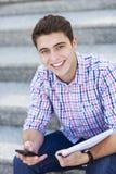 男学生微笑 库存照片