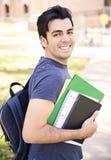 男学生微笑 免版税库存照片
