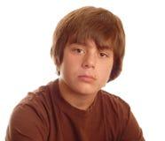 男孩严重的青少年的年轻人 图库摄影
