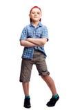 男孩以挫伤 免版税图库摄影