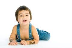 男孩位于的一点 免版税图库摄影