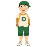 男孩佩带的帽子传染媒介例证 免版税图库摄影