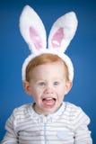 男孩兔宝宝复活节 免版税库存图片