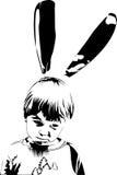 男孩兔宝宝 免版税库存照片