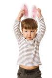 男孩兔宝宝 库存图片