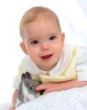 男孩兔宝宝 库存照片